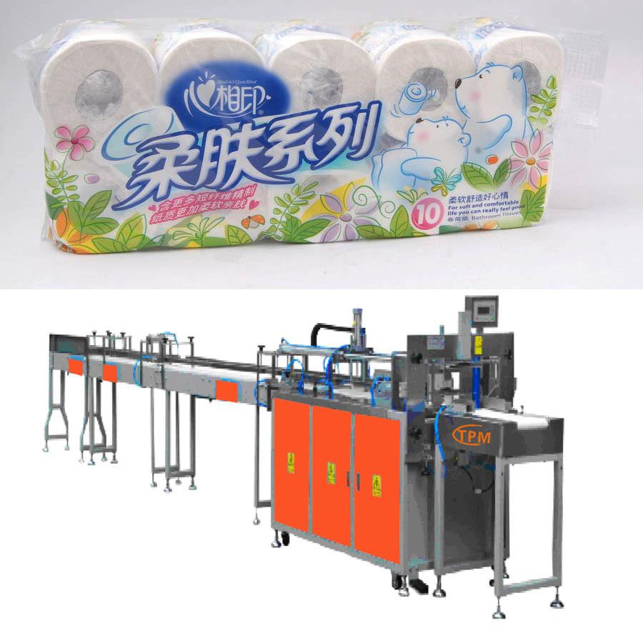 Pre-Formed Bag Toilet Paper Rolls Bundler Packing Machine
