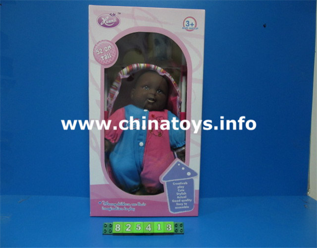 "New 15.8"" Black Baby Toy Doll with Music (825413)"