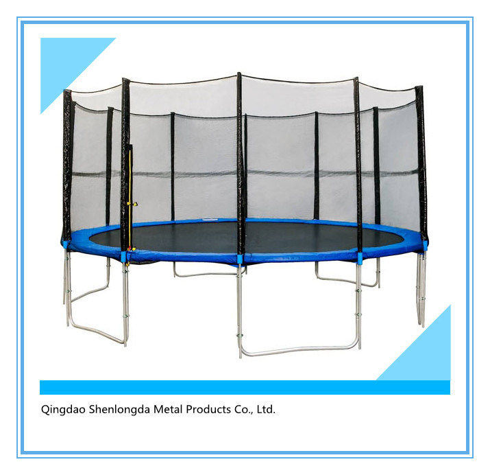 15FT Round Half Pole Trampoline with Inner Safety Enclosure11