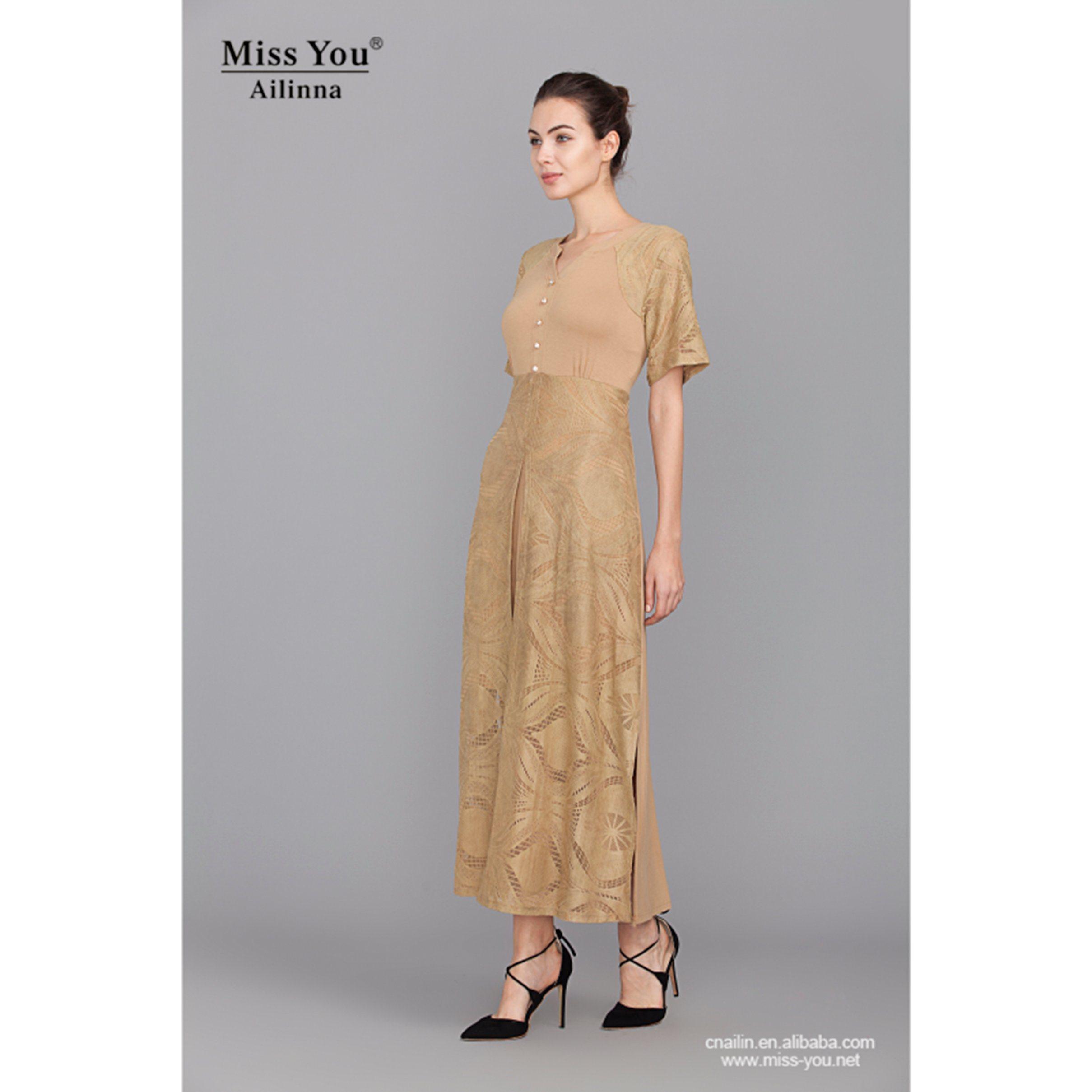 Miss You Ailinna 305156 Long Sexy Split Dress Wholesale