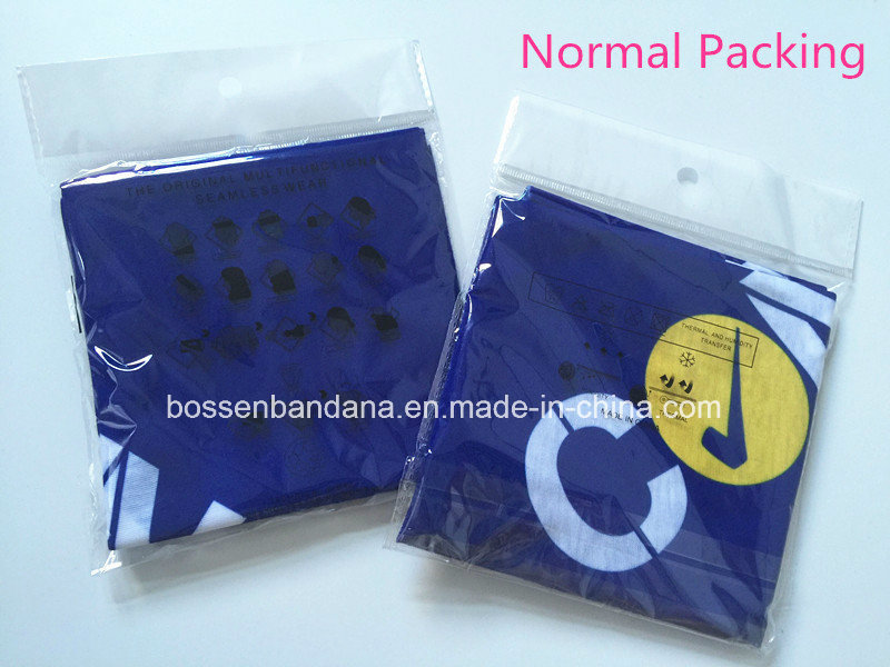 Custom Made Logo Printed Polyester Microfiber Promotional Elastic Multifunctional Buff Headwear