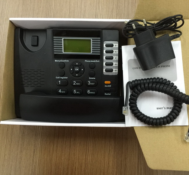 GSM 850/900/1800/1900 Wireless Office Phone with SIM Card (factory outlet)