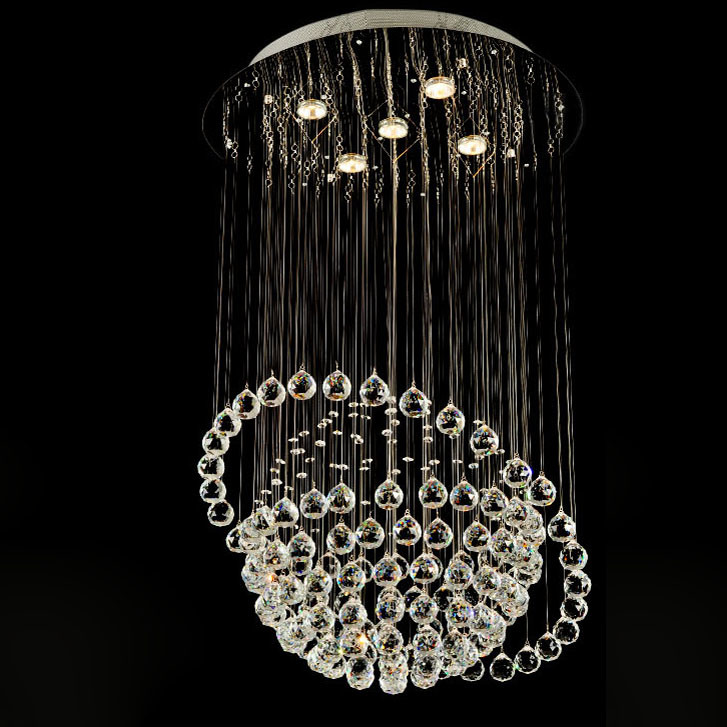 Greative Planet Crystal Ball Chandelier for Decoration