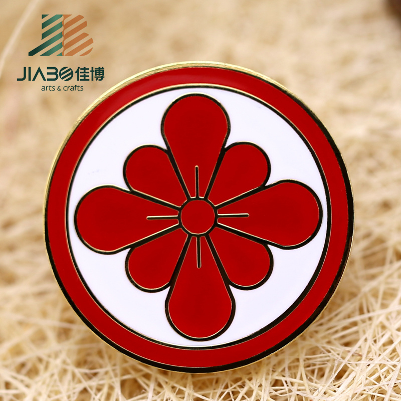 Custom Metal Flower Enamel Badge Pin