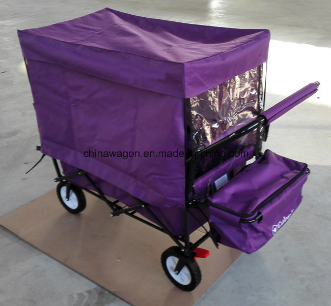 Four Wheels Folding Trolley with Canopy