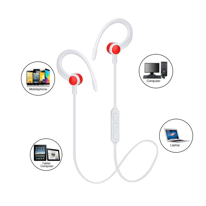 Wireless Bluetooth Ear-Hook Sports Earphone with Microphone