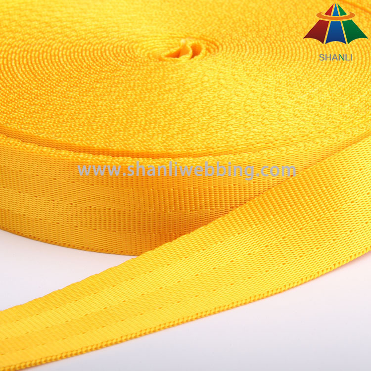 High Strength Nylon / Polyester Webbing for Safety Belt