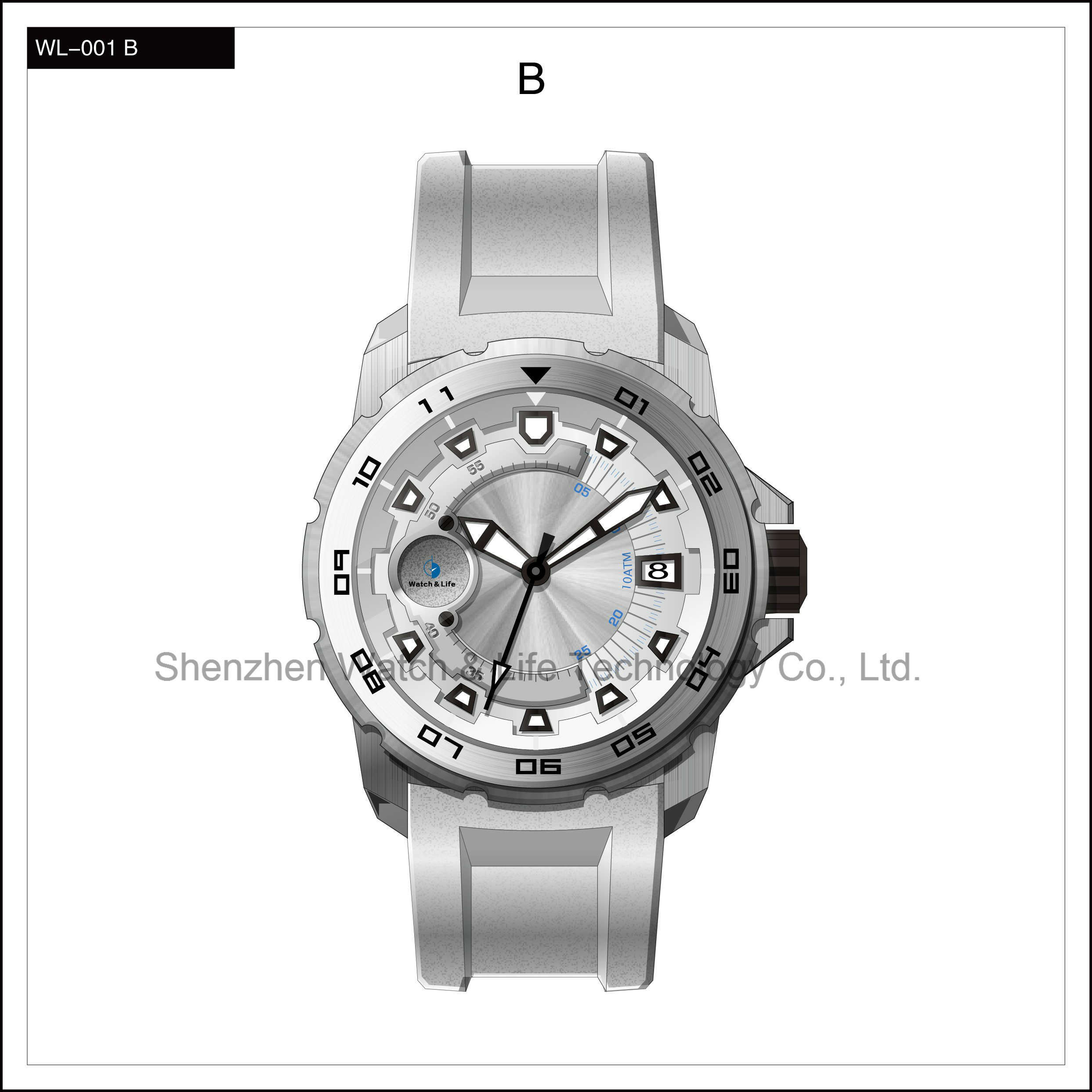 High Level Sport Automatic Business Stainless Steel Men′s Wrist Watch