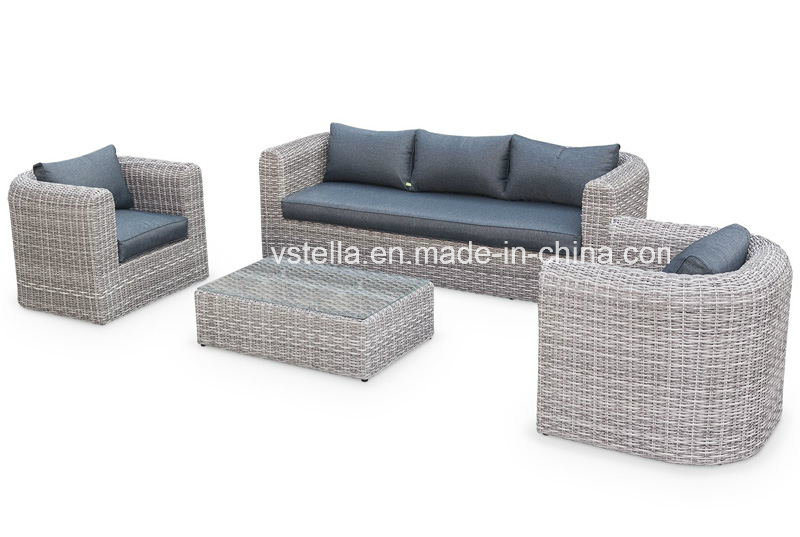 Deluxe Outdoor Garden Sectional Wicker Rattan Sofa Set