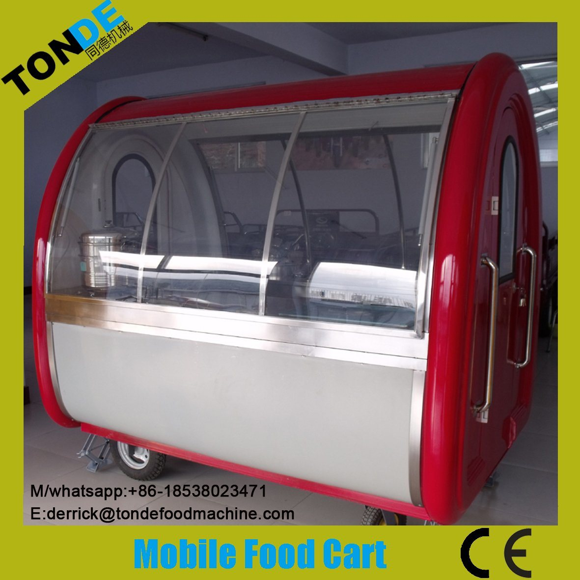 Fiberglass Mobile Food Trailer Supplier