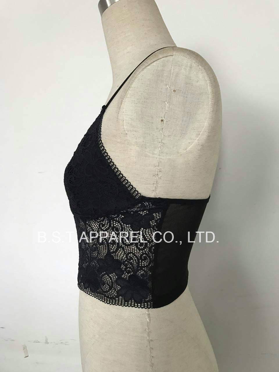 Sexy Popular Lace&Mesh Bralette (300110W)