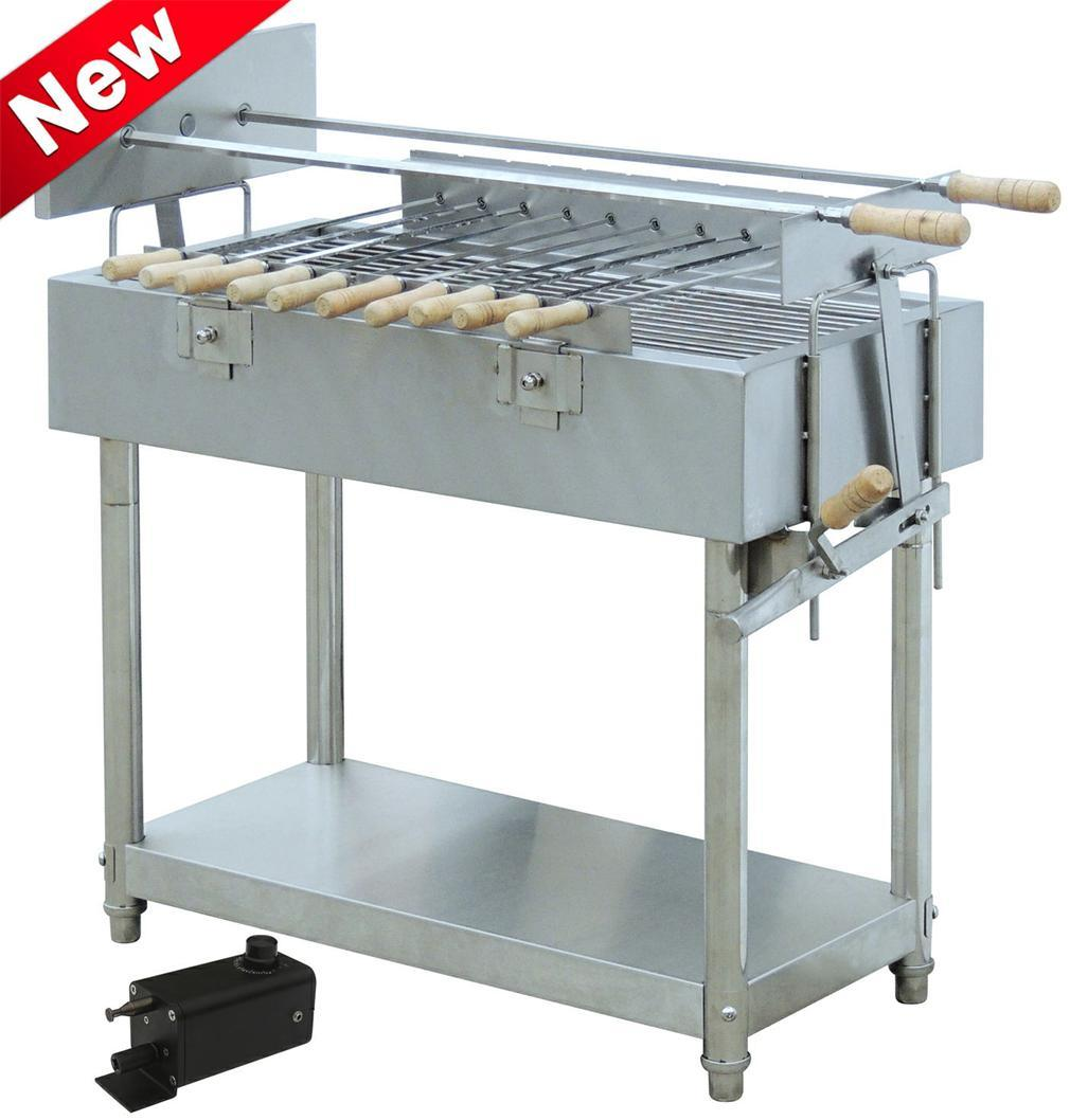 China Stainless Steel BBQ GrillRotary Charcoal EB