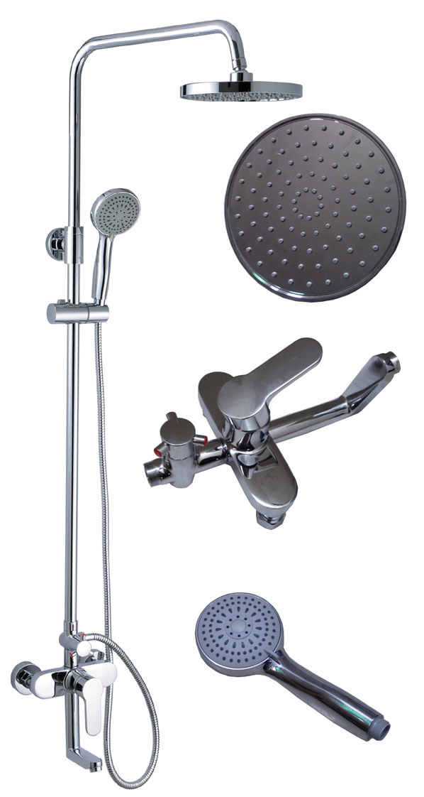 Luxury Wall Mounted Rain Shower Faucet Set LY 1008A2 China Shower Faucet B