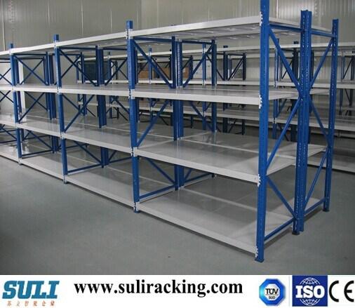 Popular Long Span Storage Steel Shelf with Light Duty and Medium Duty
