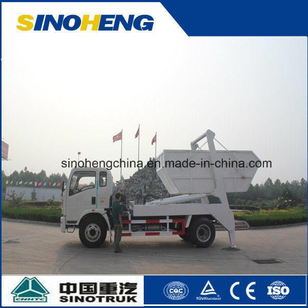 Sinotruk 4X2 Swing Arm Garbage Truck Skip Loader 8cbm (5 ton)