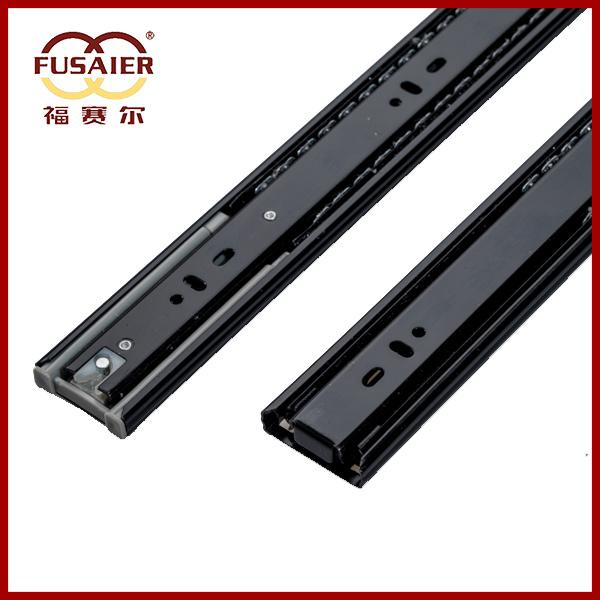 45mm Black Paint Soft-Closing Ball Bearing Slide