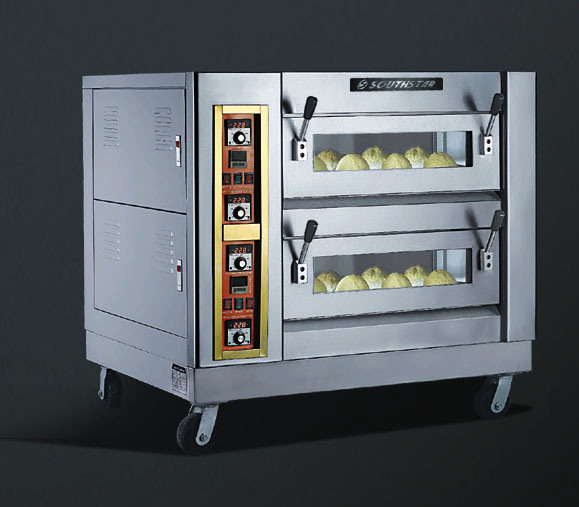Electric Heat Pizza Oven with Stone Base