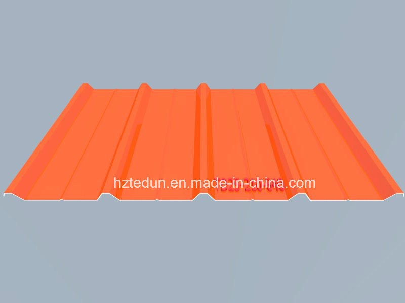 Metal Prepainted Trapezoid Panel for Facades and Wall Cladding (pure orange2004)