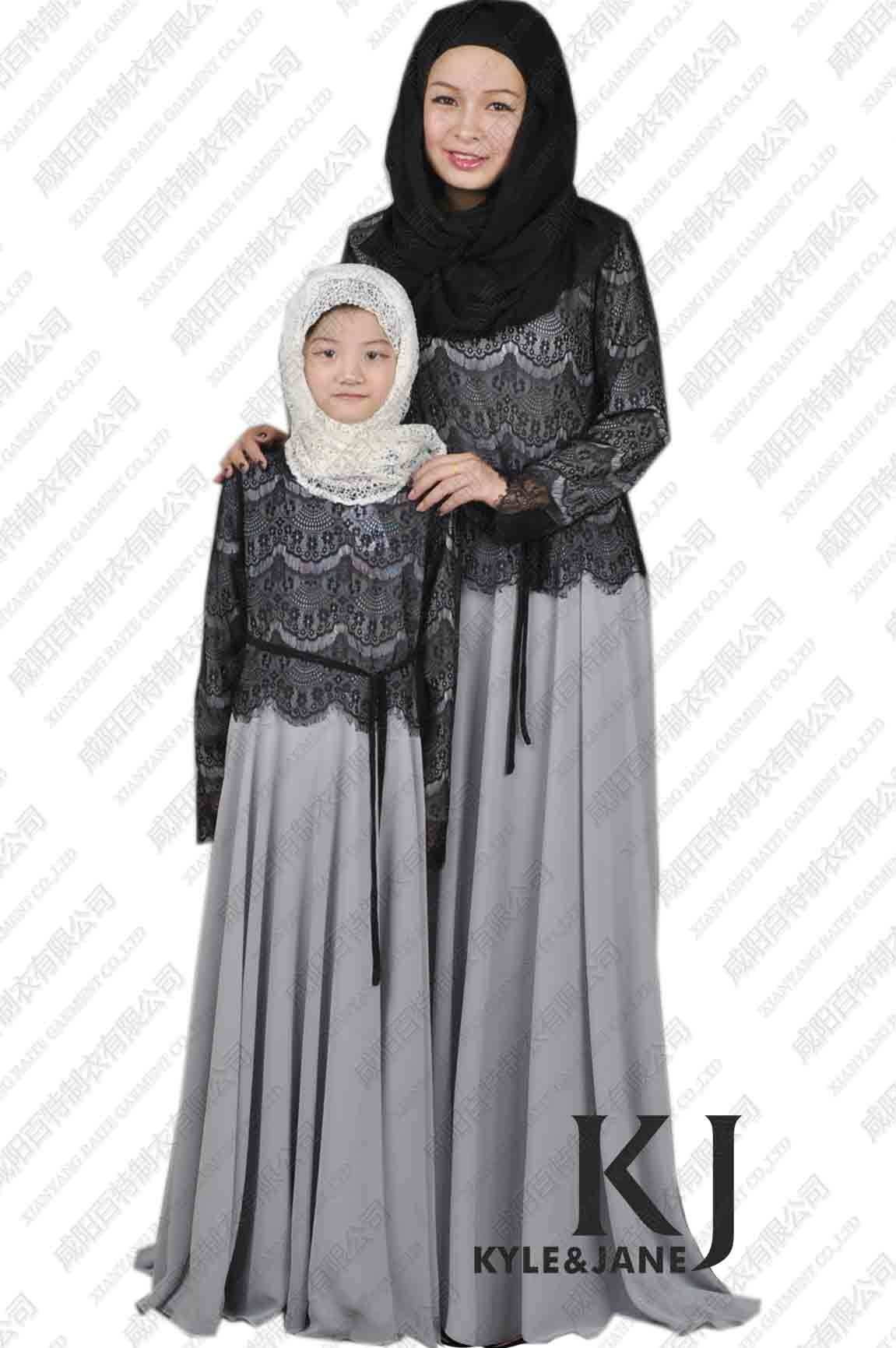 New Parent Child Abaya Long Dress Maxi Islamic
