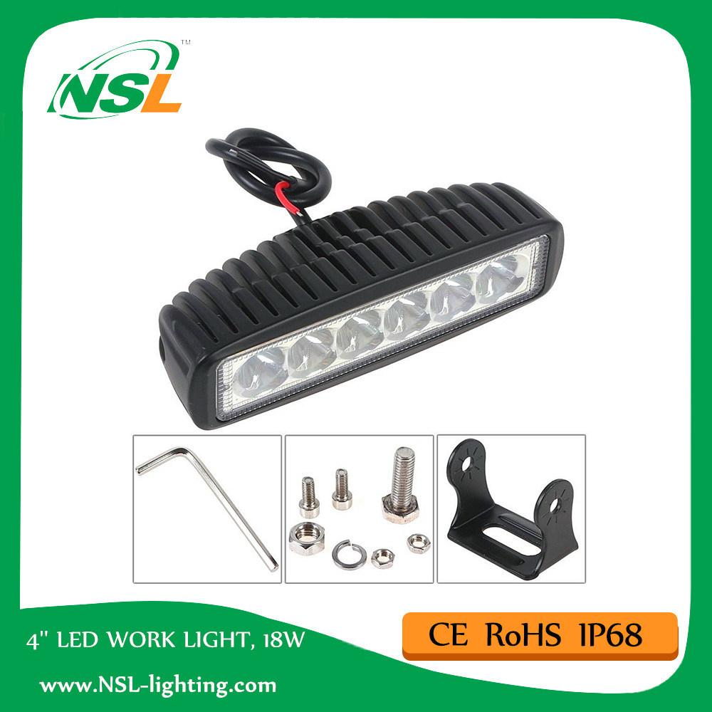 Auto LED Work Light Bar 18W 12V 6 Inch Trucks Vehicles Working Light Bar