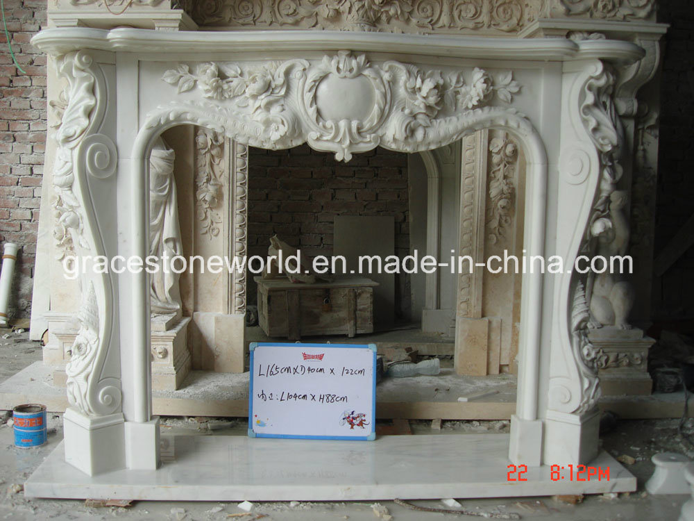 Carving Fireplace (GS-DF-015)