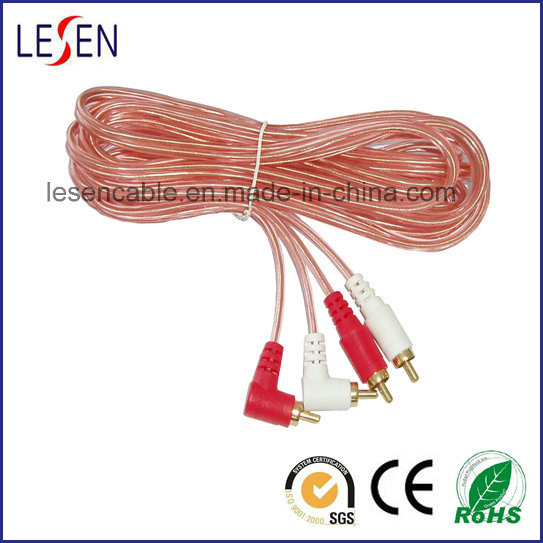 Transparent Angle RCA Cable/AV Cable