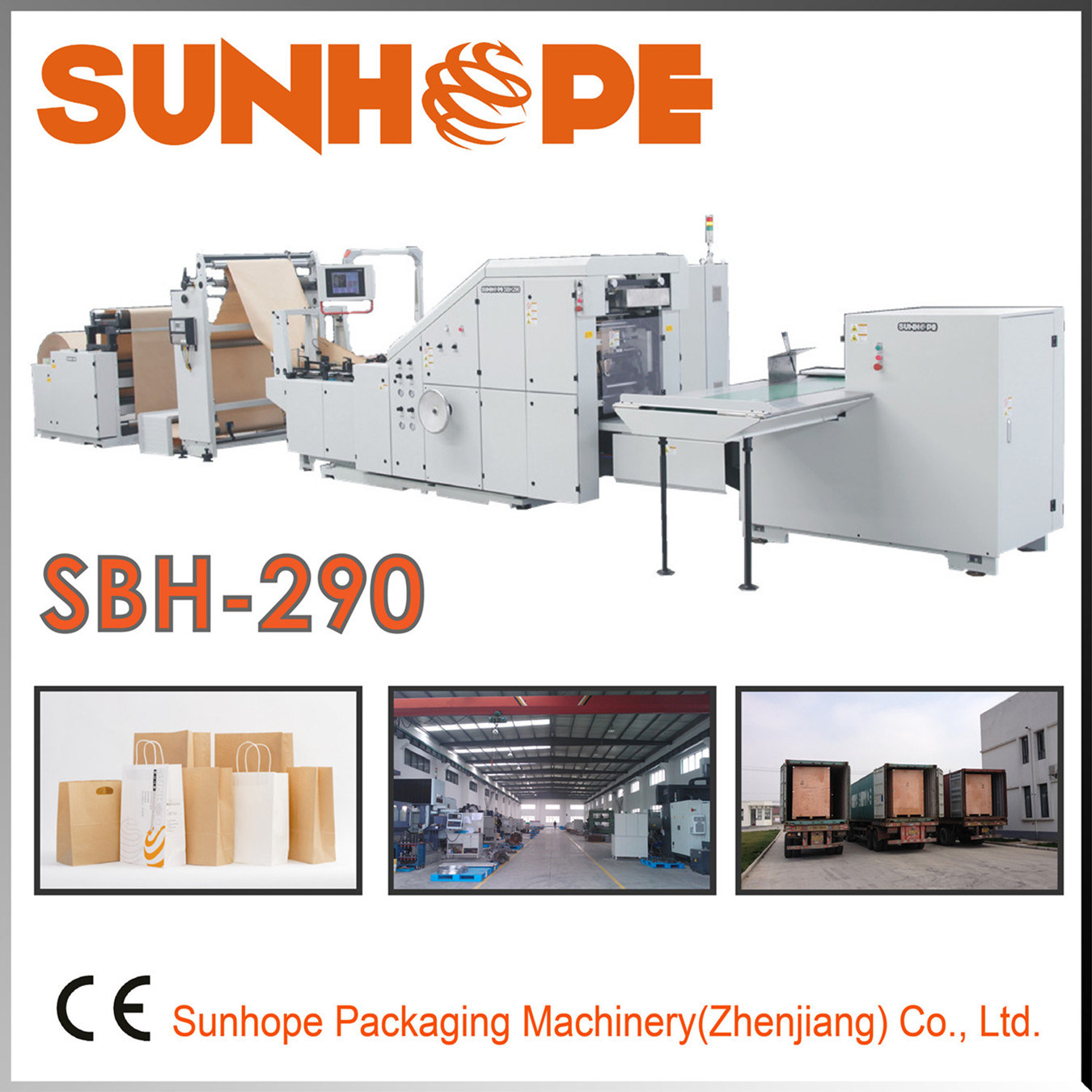 Sbh290 Full Servo Automatic Paper Bag Making Machine