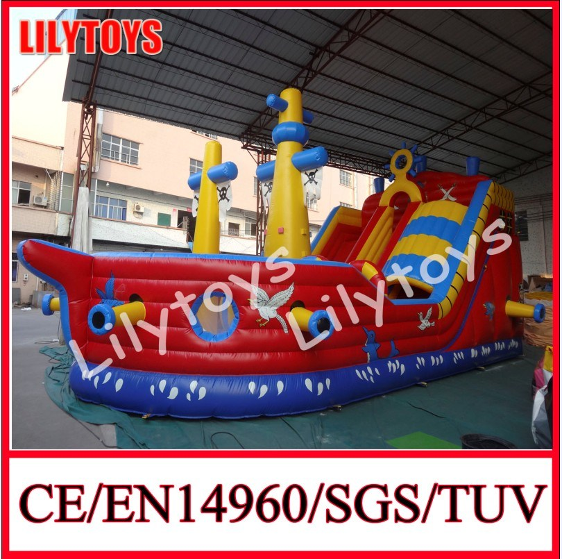 Inflatable Pirate Ship, Inflatable Slide