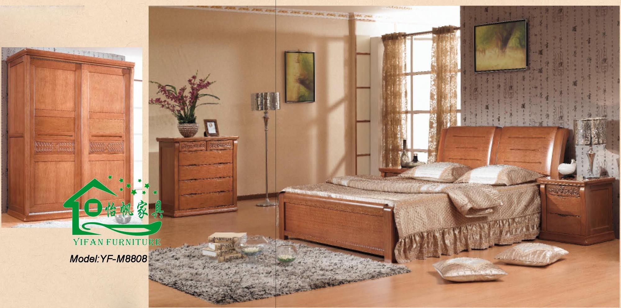 Modele de chambre a coucher en bois avec for Chambre a coucher en bois rouge