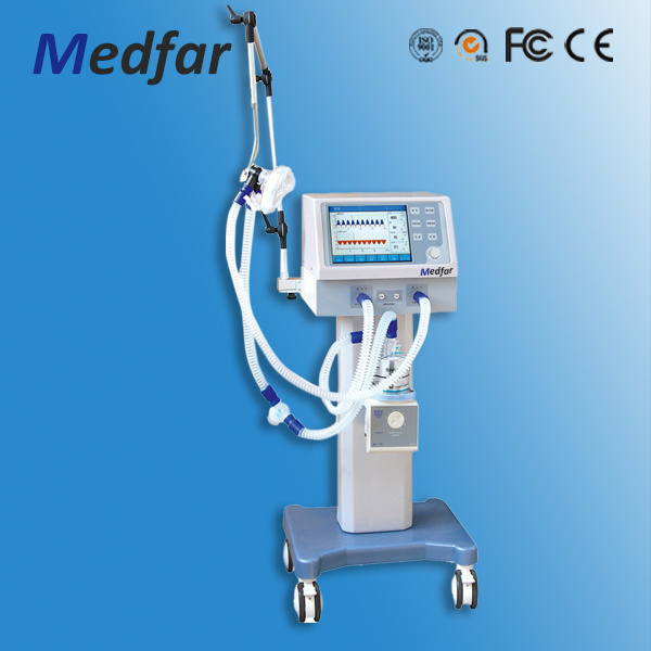 Medical Trolley Ventilator Mf-H-700b II with Air-Compressor