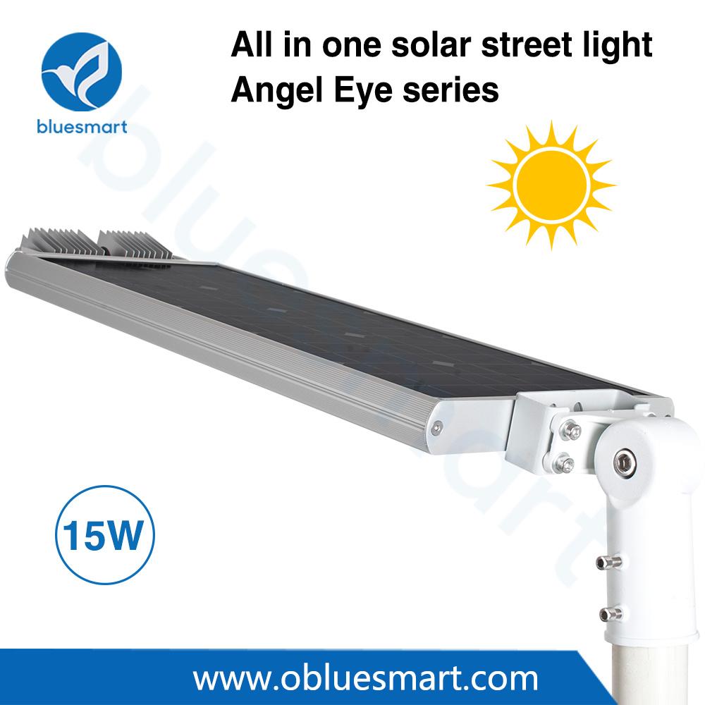 15W Solar Products Outdoor LED Garden Lighting Street Lights Motion Sensor Lamp with Inbuilt Lithium Battery