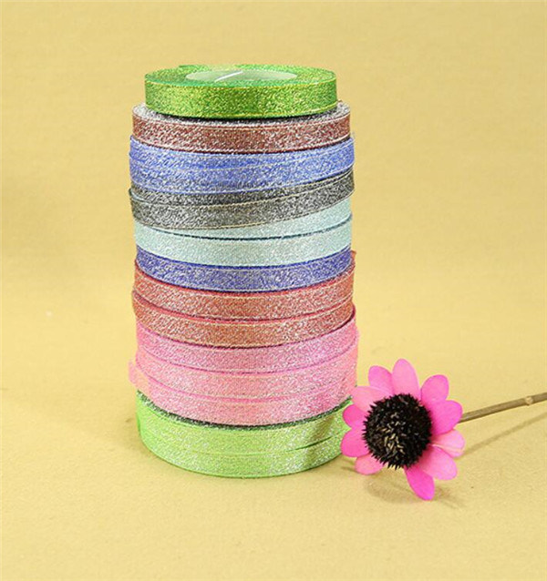 High Quality Wholesale All Sizes and Color Wholesale Sparkle Metallic Ribbon