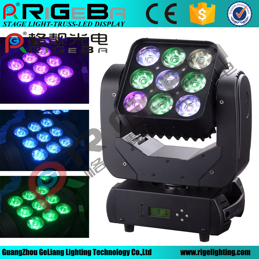 9*10W LED Beam Moving Head Wash Stage Matrix Light