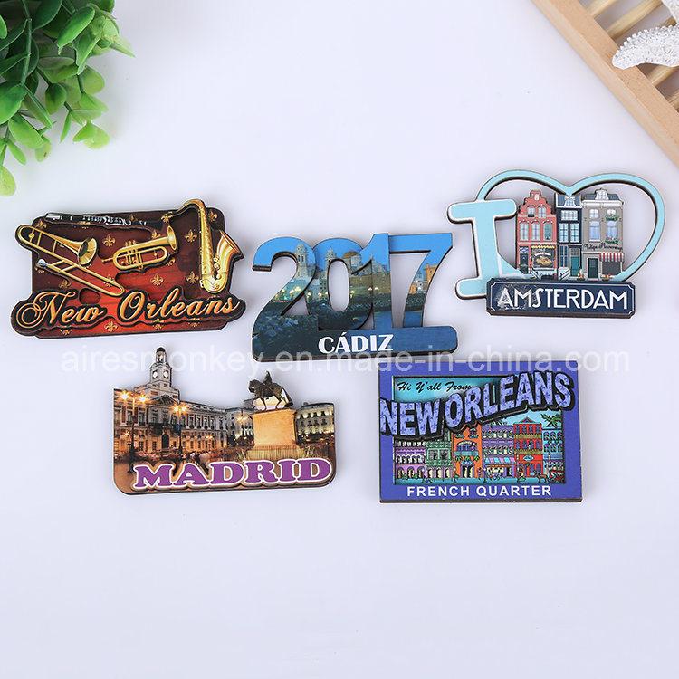 Souvenir Custom Wood 3D/MDF Fridge Magnet