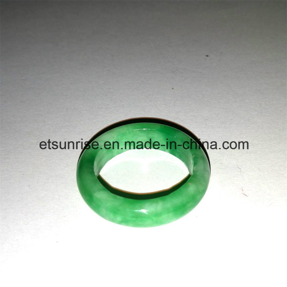 Semi Precious Stone Green Jade Ring