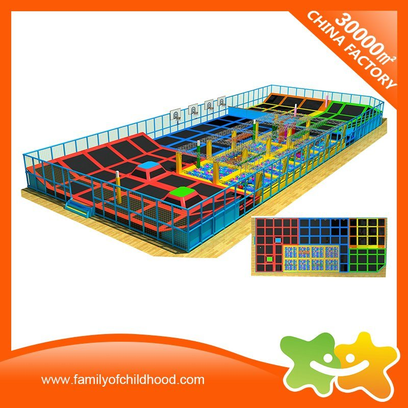 Children Amusement Park Fitness Equipment Trampoline with Safety Net