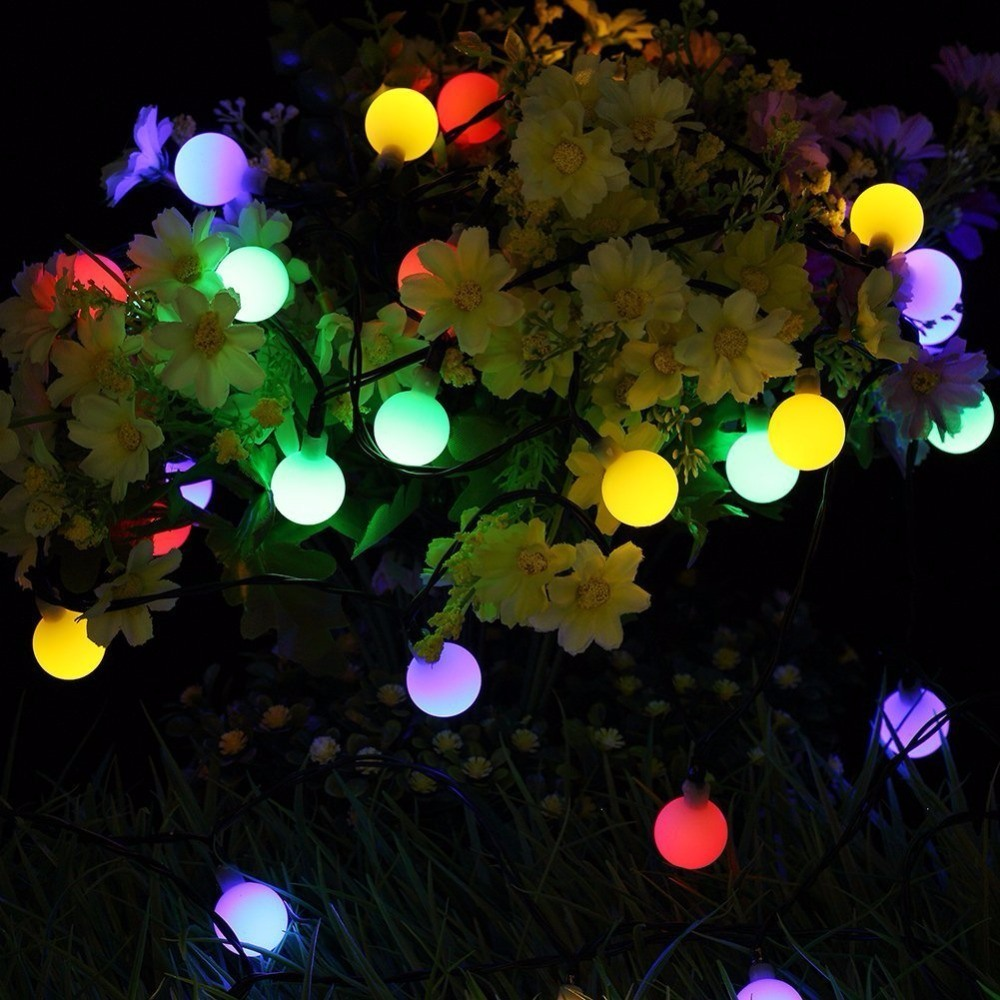 Solar Garden Light 15FT 30 LED 8 Mode Solar String Lights for Tree and Outdoor