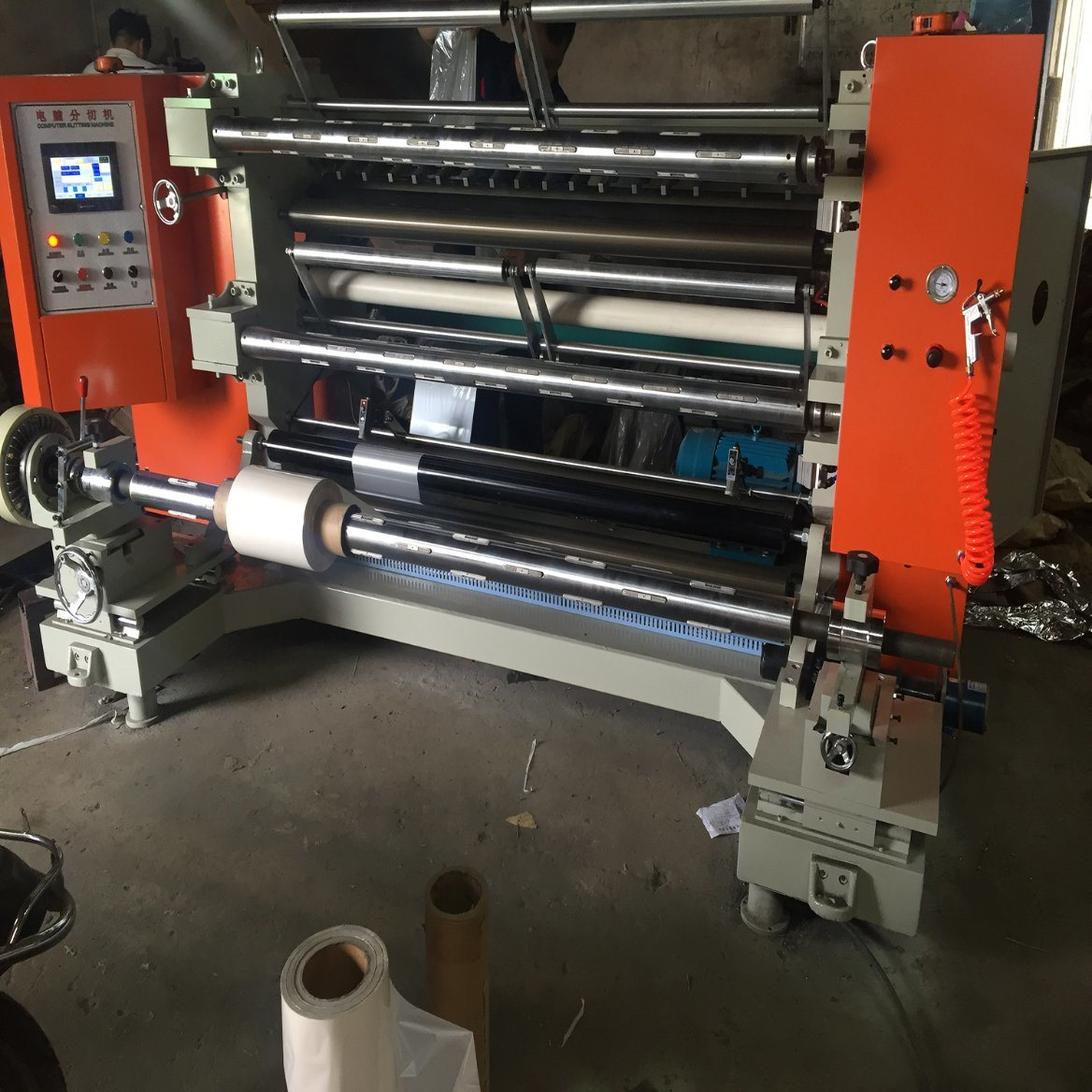 High-Speed PLC Control Slitting and Rewinding Machine with 200 M/Min