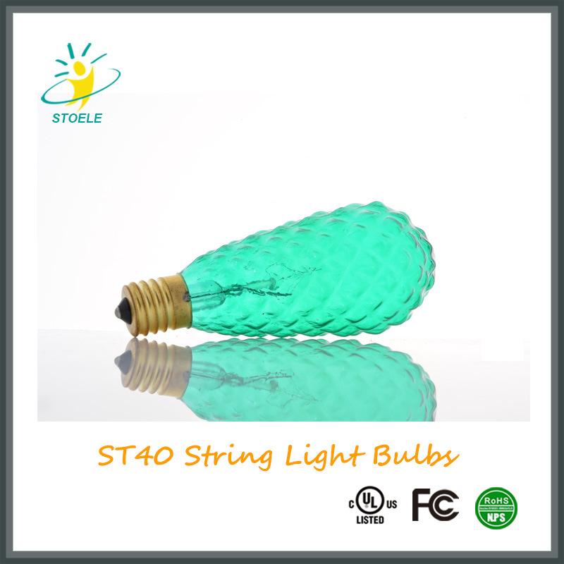 St40 7W String Light Christmas Light Incandescent Bulb Faceted Bulb