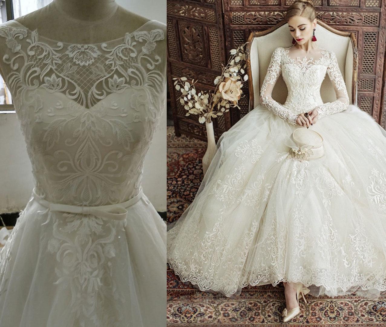 Princess Boat Neckline Sleeveless Wedding Dress
