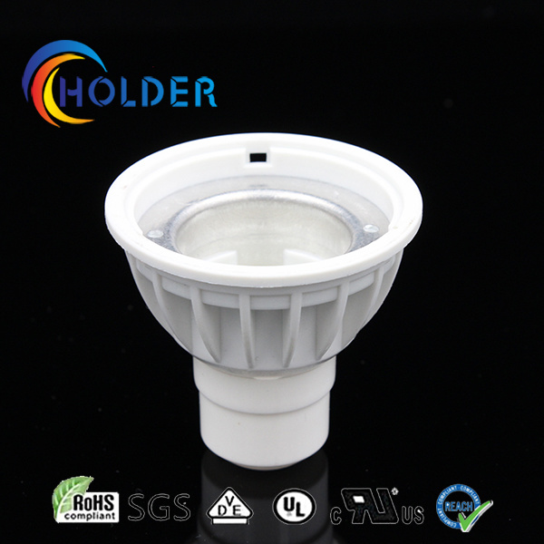 GU10 Lamp Casing Metallized Plastic Be Covered with Aluminum Insert