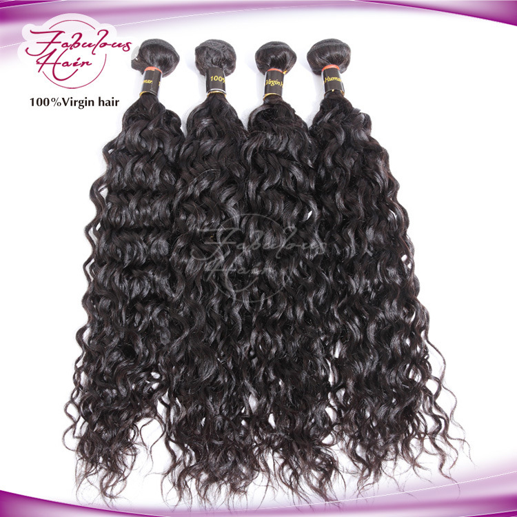 Wholesale 100% Raw Water Wavy Natural Mongolian Virgin Human Hair