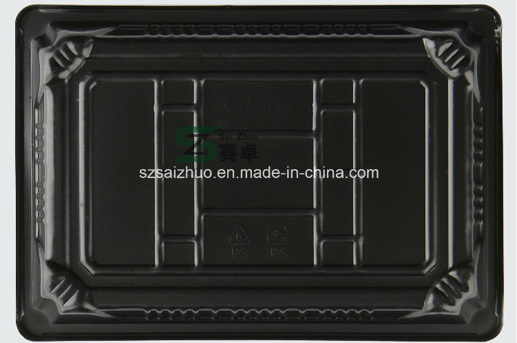Floral Printed Top Grade Disposable Plastic Sushi Box (S03)