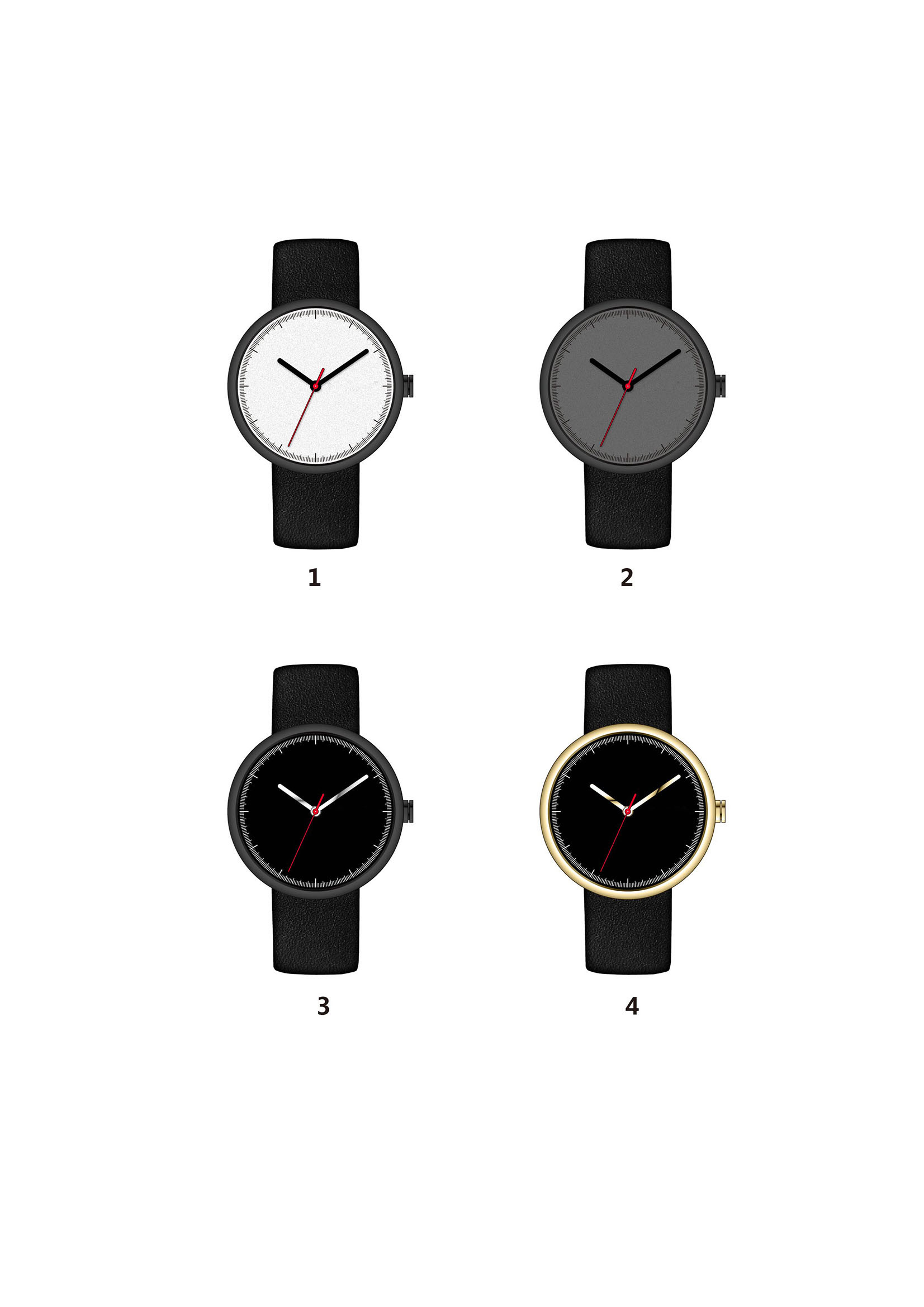 Simple Casual Men′s High-End Sports Watch ODM