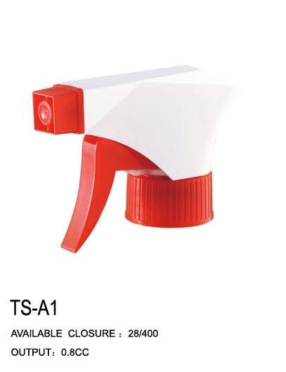 Transparent Top Bottle Trigger Sprayers with Any Color Base