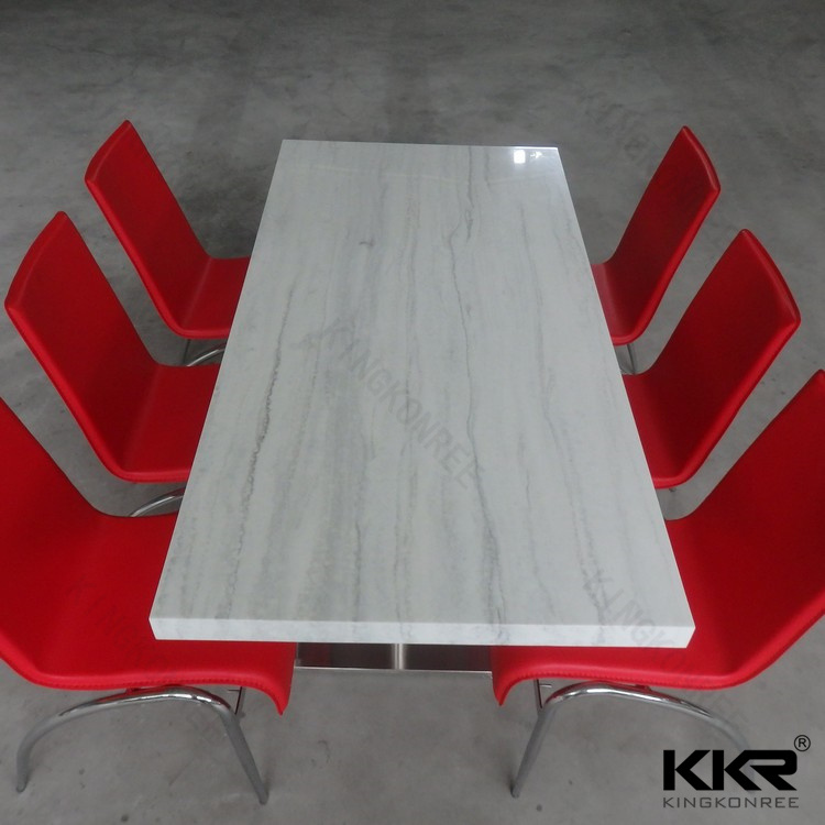 Wholesale Artificial Texture Solid Surface Round Marble Top Table