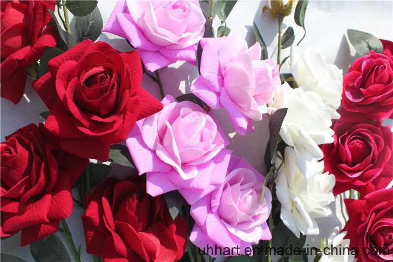 Real Touch Artificial Flowers Red Rose for Marriage Decoration