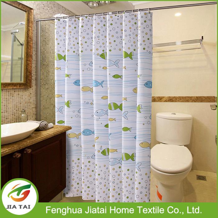 Custom Fish Printed Unique Kids Bathroom Shower Curtains