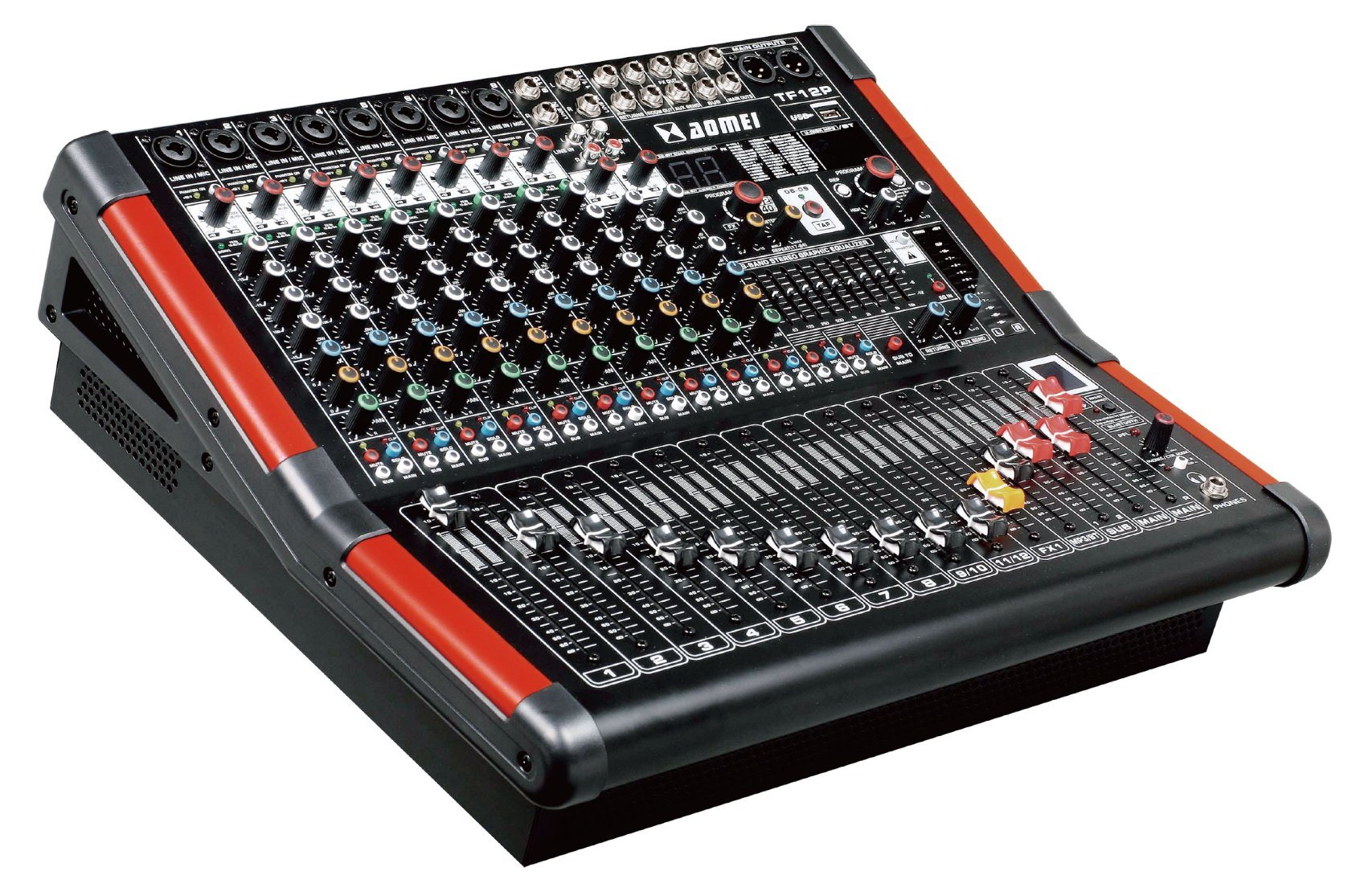 Special New Design Powered Mixer TF8p Series Professional Amplifier