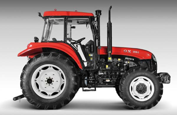 New 100HP Four-Wheel Driving Wheel Tractor with Diesel Engine (OX1004)